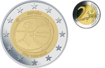 2 Euro 2009 Spanien 10 Jeuropäische Wirtschafts U Währungsunion
