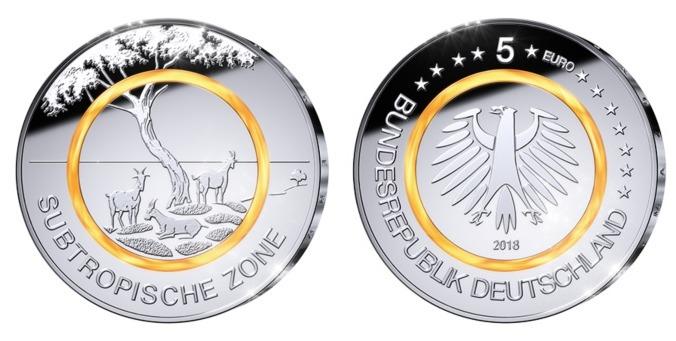 5 Euro 2018 Außer Aj Deutschland Subtropische Zone Bprägestätte