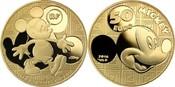 50 Euro  7,77g  fein  22 mm Ø 2016  Frankreich Mickey Mouse i.Wandel d. Zeit, inkl. Kapsel&Zertifikat&Etui,  sofort lieferbar PP