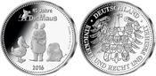 Medaille  7,3g  fein  30,00 mm Ø 2016  Deutschland Hier kommt die Maus – als erste deutsche Silberausgabe! mit Zertifikat u.Kapsel! PP  mit  Zertifikat