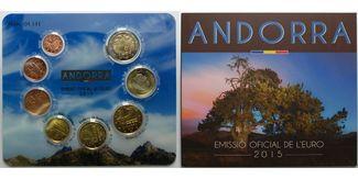 3,88 € 2015  Andorra 2.amtlicher Euro Kursmünzensatz, mit allen 8 Münzen,sofort lieferbar !!! stgl  im   Blister