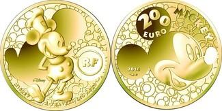 50 Euro  31,07g  fein  37 mm Ø 2016  Frankreich Mickey Mouse i.Wandel d. Zeit, inkl. Kapsel&Zertifikat&Etui, sofort lieferbar PP