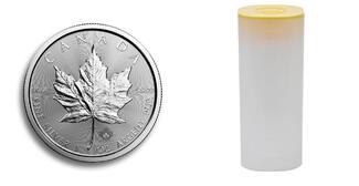 25 x 5 Dollar 2016  Kanada 25 x Maple Leaf in Silber, 1 Unze Feinsilber, zum Silberpreis i.orig.Tube stgl