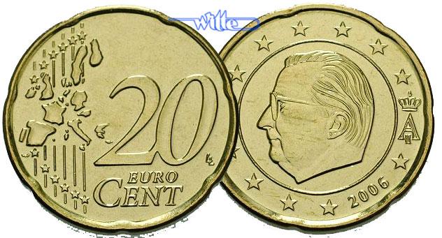 20 Cent 2000 Belgien Kursmünze 20 Cent Ch Unc Ma Shops