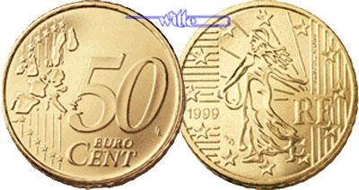 50 Cent 2001 Frankreich Kursmünze 50 Cent Ch Unc Ma Shops