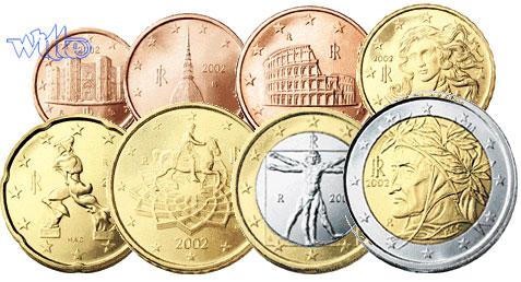 1 Cent 2 Euro 388 Mixsatz Italien Preiswerte Zusammenstellung