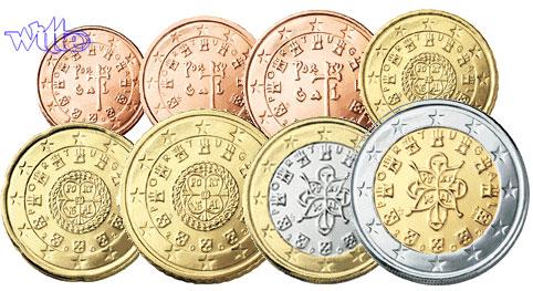 1 Cent 2 Euro 388 Mixsatz Portugal Preiswerte Zusammenstellung