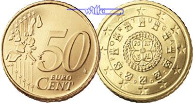 50 Cent 2002 Portugal Kursmünze 50 Cent Ch Unc Ma Shops