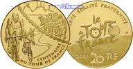 Frankreich 20 Euro, 15,64g  fein 31 mm Ø Tour de France - Bergetappe 1/2 oz. inkl. Etui & Zertifikat & Schuber