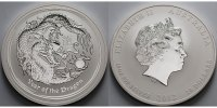 10 $,10 oz. 2012 Australien Jahr des Drachen / Chines. Tierkreiszeichen... 520,00 EUR  +  23,00 EUR shipping
