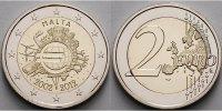 2 Euro 2012 Malta 10 Jahre Euro Bargeld stgl  8,50 EUR  +  7,00 EUR shipping