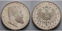 Württemberg 5 Mark Kursmünze, Wilhelm II,1891-1918