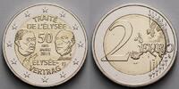 2 Euro 2013 F Deutschland 50 Jahre Élysée Vertrag, Prägestätte F  stgl ... 4,50 EUR  +  7,00 EUR shipping