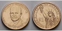 1 $ 2015 P USA Dwight D. Eisenhower / Kupfer-Nickel, Philadelphia vz  3,50 EUR  +  7,00 EUR shipping