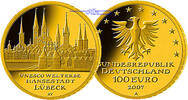 100 Euro 15,55g fein 28 mm Ø 2007A Deutschland Hansestadt Lübeck, Präge... 650,00 EUR  + 23,00 EUR frais d'envoi