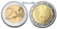 2 Euro 2008 D Deutschland Kursmünze, 2 Euro * stgl  17,50 EUR  +  7,00 EUR shipping