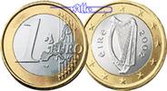 1 Euro 2004 Irland Kursmünze, 1 Euro stgl  7.30 US$ 6,50 EUR  +  12.36 US$ shipping