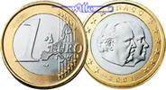 1 Euro 2001 Monaco Kursmünze, 1 Euro stgl  17,00 EUR  +  7,00 EUR shipping