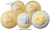 10 Cent -2 Euro, 3,80 2002 Monaco Kursmünzen,  Satz 2002 stgl  89,00 EUR  +  17,00 EUR shipping