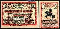 3 Mark  1921.01.27 Delbrück Westfalen Stadt 27.1.1921, Wz Ovalmuster I-  7,00 EUR  +  7,00 EUR shipping