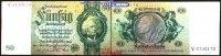50 Reichs mark 1933 30,03 Deutsches Reich Reichsbank, David Hansemann, ... 6,00 EUR  +  7,00 EUR shipping