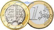 1 Euro 2009 Slowakei Kursmünze, 1 Euro stgl  2,50 EUR  +  7,00 EUR shipping