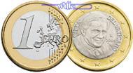 1 Euro 2007 Vatikan Kursmünze, 1 Euro stgl  99,00 EUR  +  17,00 EUR shipping