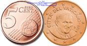 5 Cent 2010 Vatikan Kursmünze, 5 Cent stgl  35,00 EUR  +  17,00 EUR shipping
