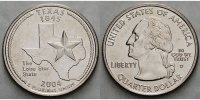 1/4 $ 2004 D USA Texas D - Kupfer-Nickel - vz  5,00 EUR  +  7,00 EUR shipping