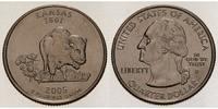 1/4 $ 2005 D USA Kansas D - Kupfer-Nickel - vz  5,00 EUR  +  7,00 EUR shipping