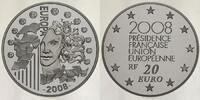 20 Euro 2008 Frankreich Europäische Präsidentschaft - Europaprogramm - ... 395,00 EUR  +  17,00 EUR shipping