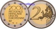 2 Euro 2008 Frankreich Europäische Präsidentschaft stgl  4,50 EUR  +  7,00 EUR shipping
