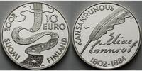 10 Euro 2002 Finnland 200. Geb. von Elias Lönnrot, inkl. Etui & Zertifi... 65,00 EUR  +  17,00 EUR shipping