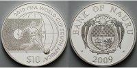 10 Dollar 2009 Nauru Fußball Weltmeisterschaft 2010 in Südafrika, inkl.... 44,80 EUR  +  17,00 EUR shipping