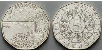 5 Euro 2003 Österreich Wasserkraft vz  19,00 EUR  +  7,00 EUR shipping