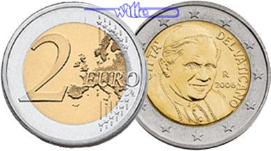2 Euro 2013 Vatikan Kursmünze 2 Euro Letzte Münze Papst Benedikt Xvi Stgl