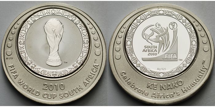 FIFA Medaille 2010 Süd-Afrika Fußball Weltmeisterschaft 2010 in ...