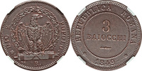 3 Baiocchi 1849 Italy Roman Republic 1849-...