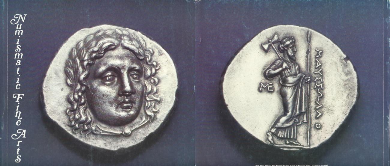 Auktionskatalog 1980 NUMISMATIC FINE ARTS INC  NUMISMATIC FINE ARTS INC  AUCTION VIII CATALOG ANCIENT GREEK COINS JUNE 6 1980 Sehr gut