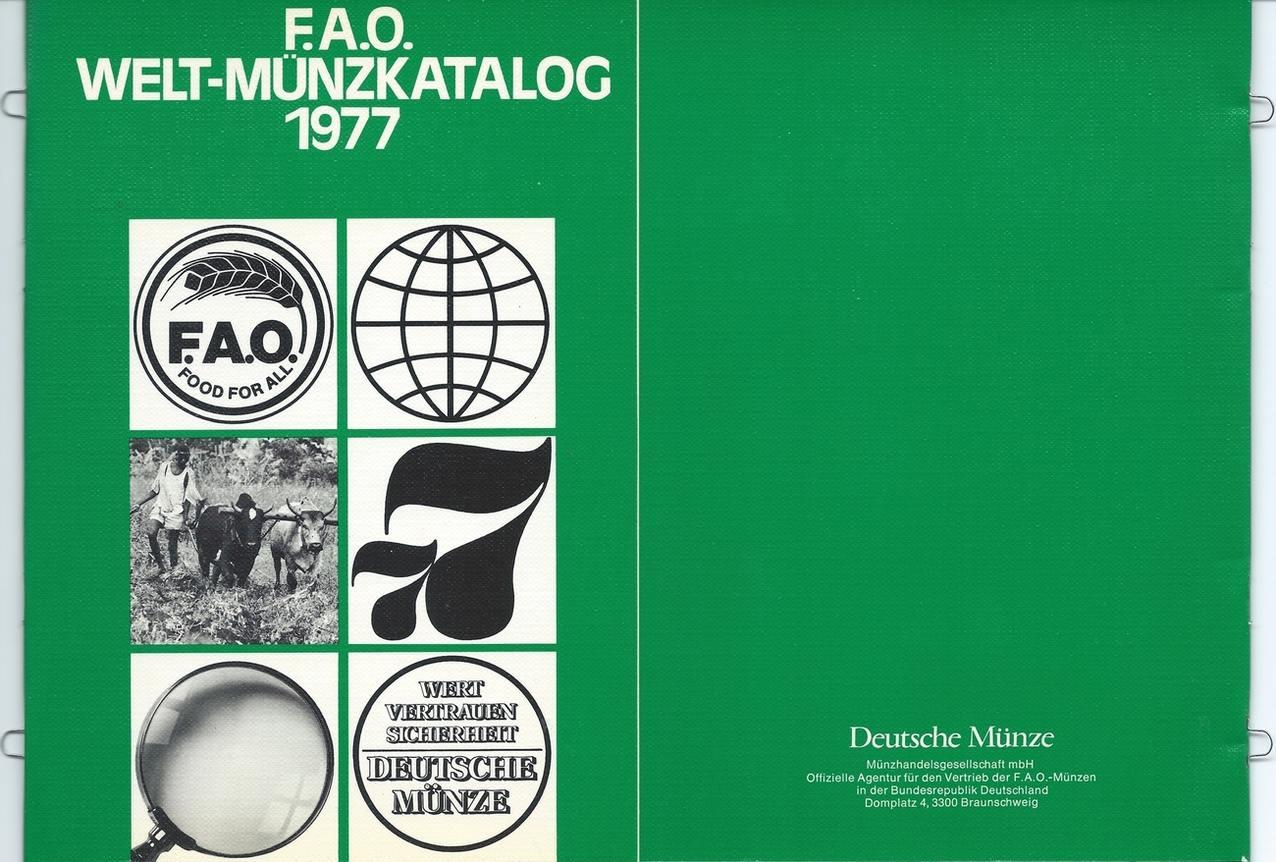 Münzkatalog 1977 Deutsche Münze Deutsche Münze Fao Welt