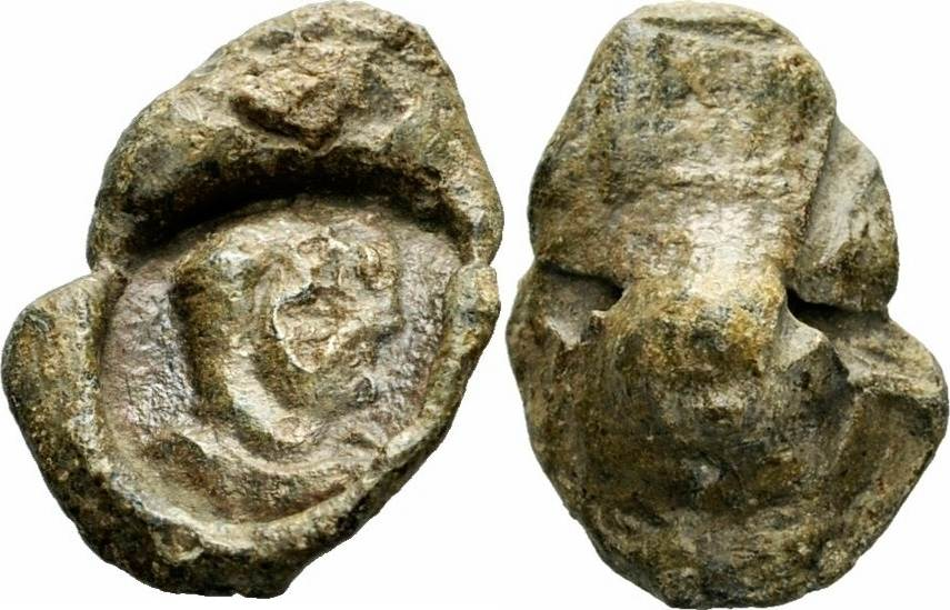 Bleisiegelabdruck 293-305 n  Chr  Rom Kaiserreich Rom Kaiserreich  Tetrarchie Bleisiegel Kegelsiegel Roman Imperial Lead Seal RR ! VF