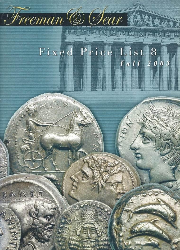 Festpreiskatalog 2005 Freeman & Sear Freeman & Sear Fixed Price List 8 Fall  2003 Greek Alexander Corinth Roman Coins Sehr gut